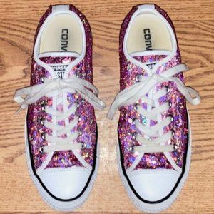 VINTAGE CONVERSE ALL STAR SAMPLE PAIR SEQUIN